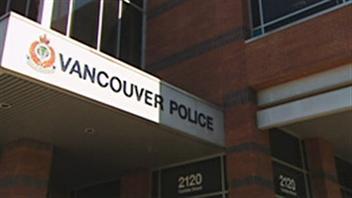 L'entrée d'un poste de police à Vancouver