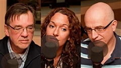 � Radio-Canada / Fran�ois Lemay | Marquis Fortin, Marie-�ve Morin, et Alain Vadeboncoeur