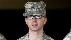 Bradley Manning, lors d'une comparution devant une cour martiale à Fort Meade, en décembre 2011.