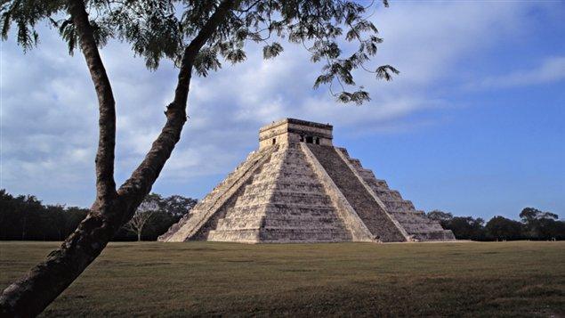 Une pyramide Maya
