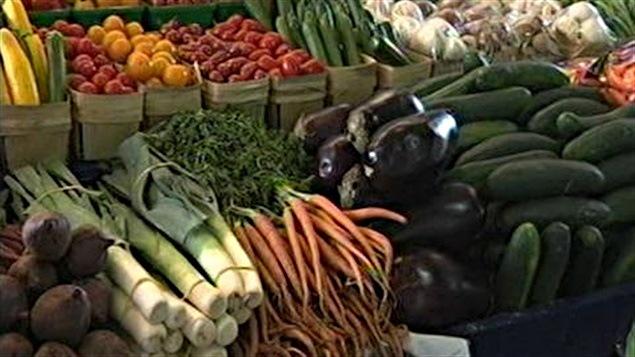 Légumes au marché