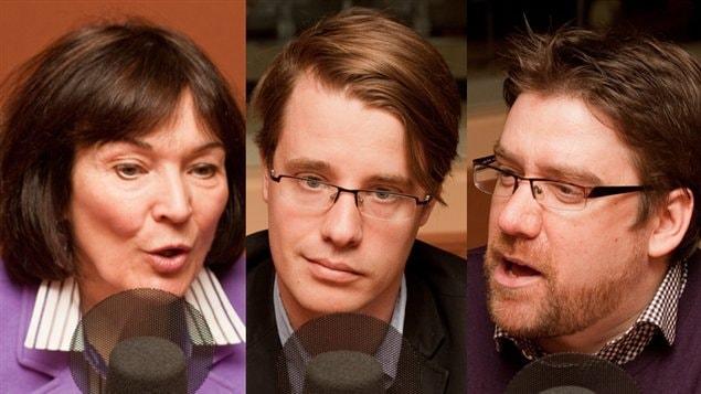 © Radio-Canada / François Lemay | Monique Grégoire, Simon Tremblay-Pepin, et Marcelin Joanis