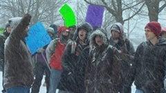 Manifestation d'étudiants du Cégep de Sherbrooke