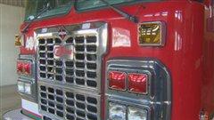 Camion des pompiers.