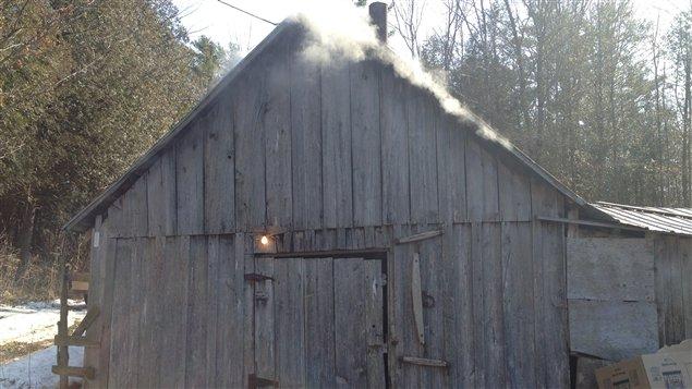 Cabane à sucre au Québec.