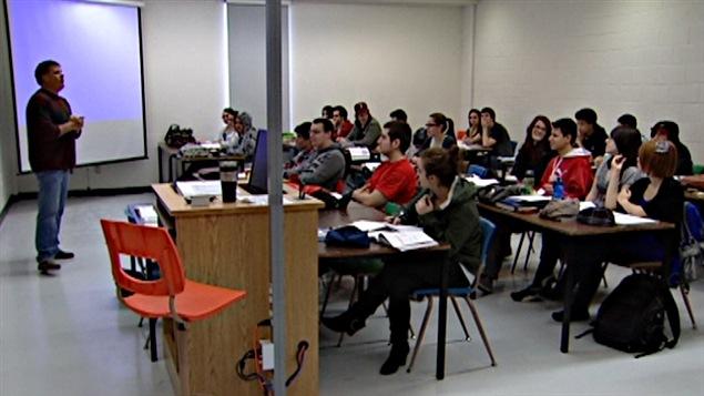Des étudiants à l'Université du Québec en Outaouais.