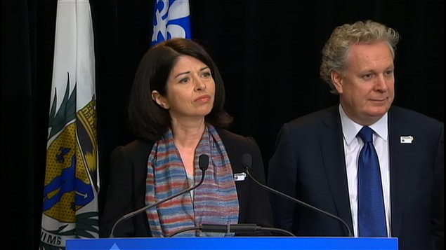 Line Beauchamp et Jean Charest