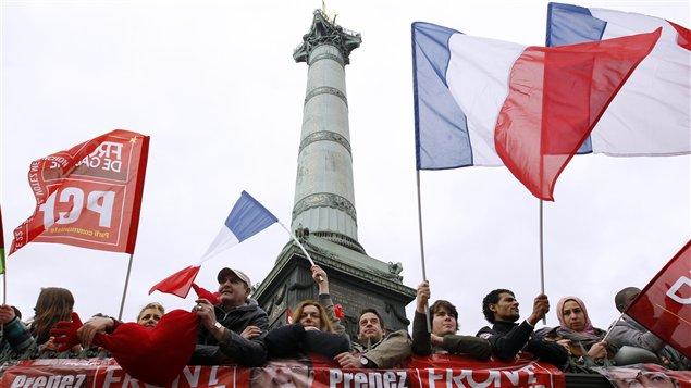 Manifestation du Front de gauche à Paris