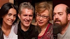 © Radio-Canada / François Lemay | Alexandra Diaz, Stéphane Garneau, Carmen Bourassa, et Martin Larocque