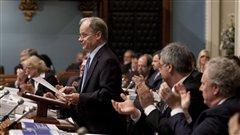 Le ministre des Finances du Québec, Raymond Bachand, lors du dépôt du budget provincial 2012-2013