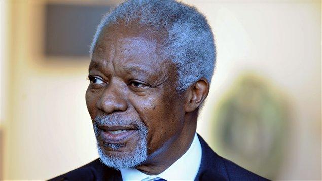 L'envoyé spécial de l'ONU et de la Ligue arabe pour la Syrie, Kofi Annan (archives)