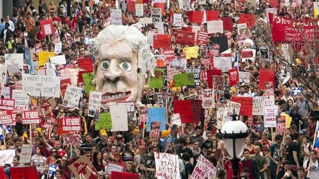 La manifestation du 22 mars à Montréal