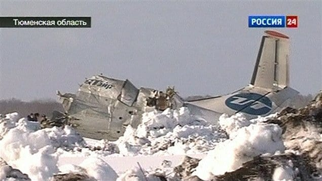 Un avion de ligne russe s&#39;est cras en Sibrie, faisant des dizaines de morts.