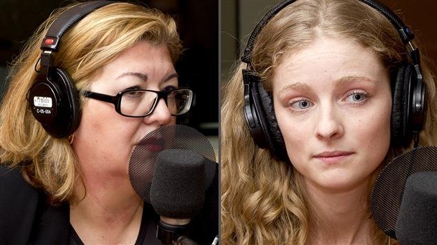 ©Radio-Canada/Christian Côté | <b>Geneviève St-Germain et Rachel Blais</b>
