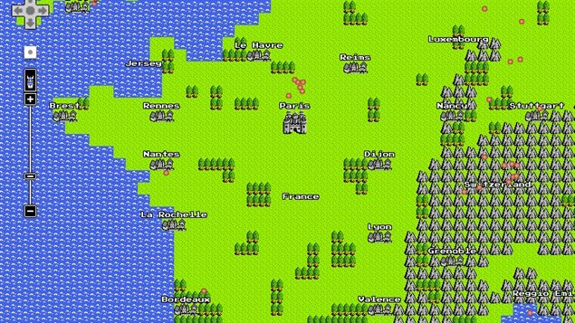 Google map en version 8 bits