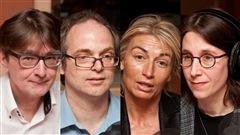 © Radio-Canada / François Lemay | Paul Lewis, Patrick Morency, Stéphanie de Flandre, et Dominique Sorel