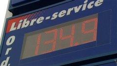 Le prix de l'essence a atteint plus de 1,34 $ le litre dans la région.
