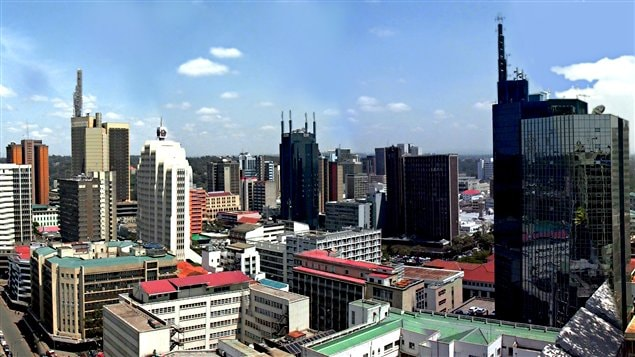 Vue sur le centre-ville de Nairobi, au Kenya /  Nite Owl, Wikipdia