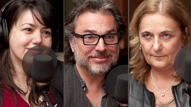 ©Radio-Canada/Christian Côté | <b>Manon Dumais, Christian Bégin et Nathalie Petrowski</b>