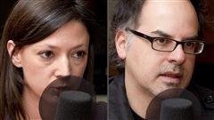 ©Radio-Canada/Christian Côté | <b>Les auteurs Marie-Hélène Poitras et Stéphane Dompierre</b>