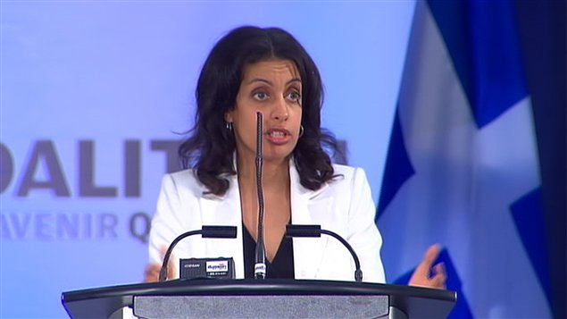 Dominique Anglade, pr&#233;sidente de la CAQ.