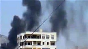 Une image d'une vidéo amateure à Hama le 23 avril 2012