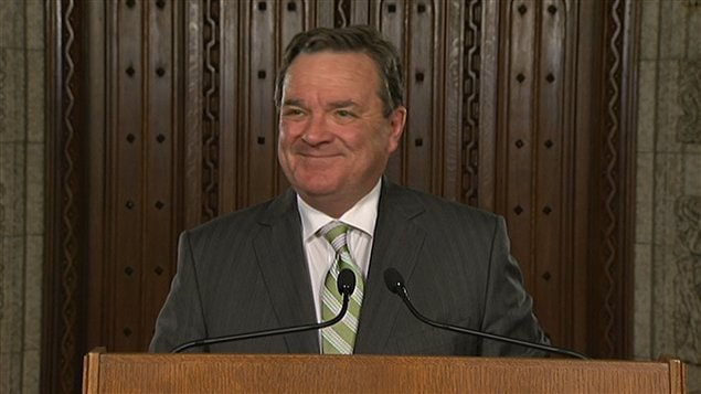 Le ministre des Finances, Jim Flaherty