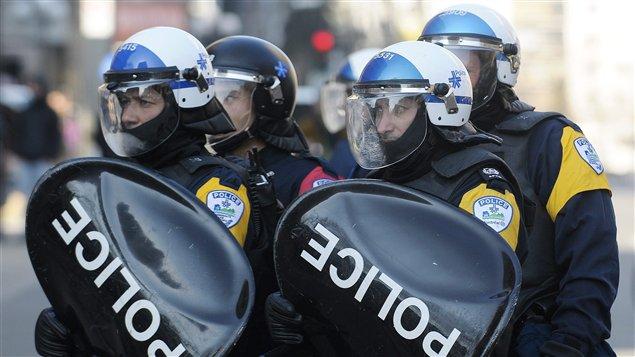 Policiers du groupe tactique d'intervention du SPVM