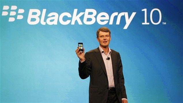 Le PDG de RIM, Thorsten Heins, lors de la conférence BlackBerry World
