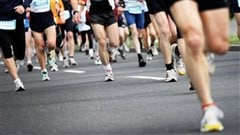 Coureurs  un marathon