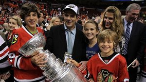 Marc Bergevin, sa famille et la Coupe Stanley en 2010