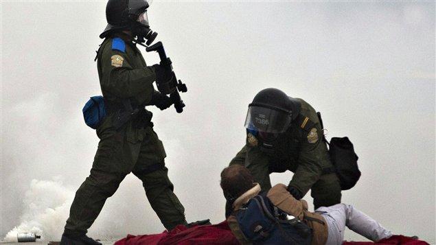 Les manifestations ont tourné en émeutes le 4 mai, à Victoriaville.
