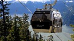 Les cabines du téléphériques de Squamish