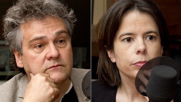©Radio-Canada/Christian Côté | <b> Le Dr Jean-François Chicoine et la journaliste Dominique Forget</b>