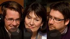 © Radio-Canada / François Lemay | Simon Tremblay-Pepin, Monique Grégoire et Marcelin Joanis