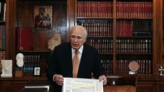 Le prsident Carolos Papoulias