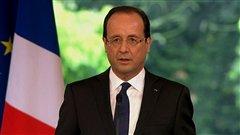 Fran�ois Hollande, pr�sident de la R�publique fran�aise