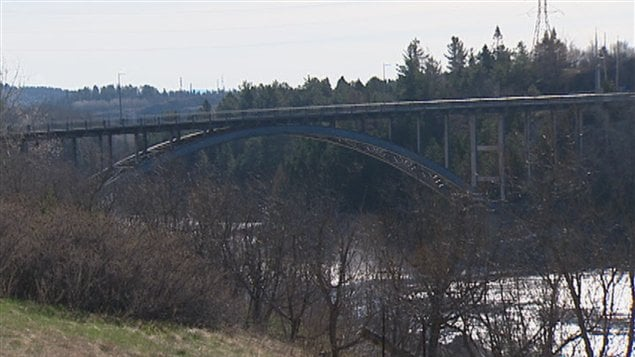 Le pont d'aluminium, dans l'arrondissement de Jonquière