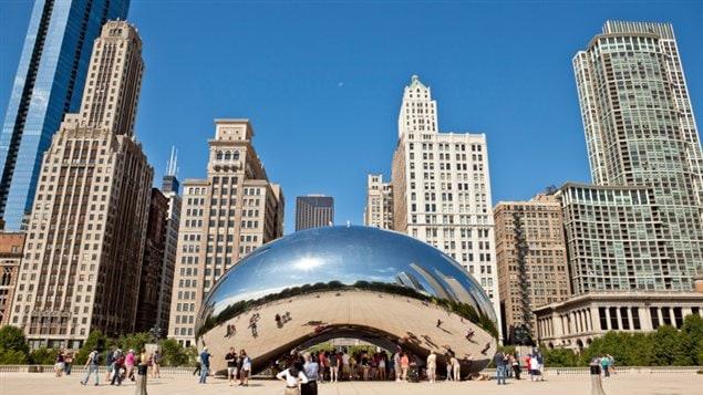 Le Cloud Gate du Millenium Park, à Chicago