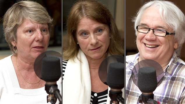 Radio-Canada/Christian Ct | <b> Claudine Desjardins, Sylvie Clermont et Gilles Dubois</b>
