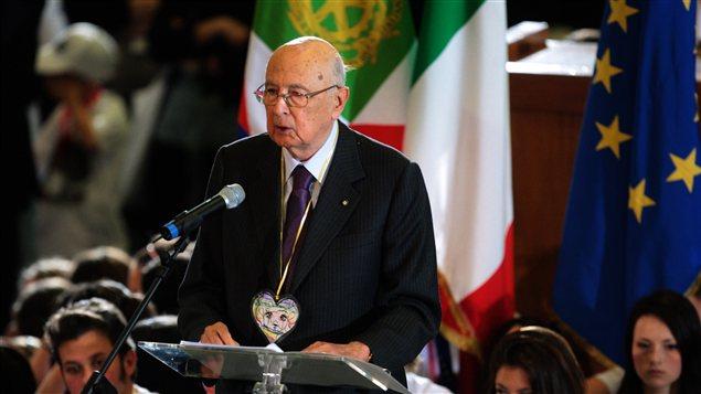 Le président italien Giorgio Napolitano