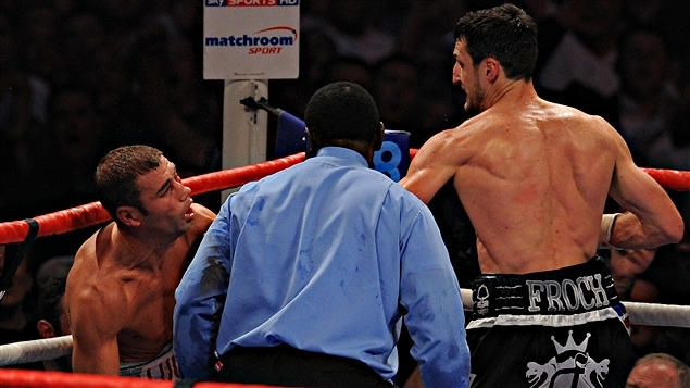 Lucian Bute, malmen par Carl Froch