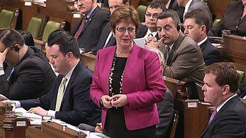 La ministre Diane Finley a défendu la réforme de l'assurance-emploi.