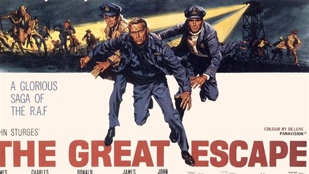D�tail de l'affiche du film <i>The great escape</i>