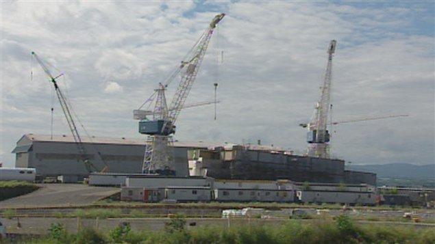Le chantier maritime Davie.