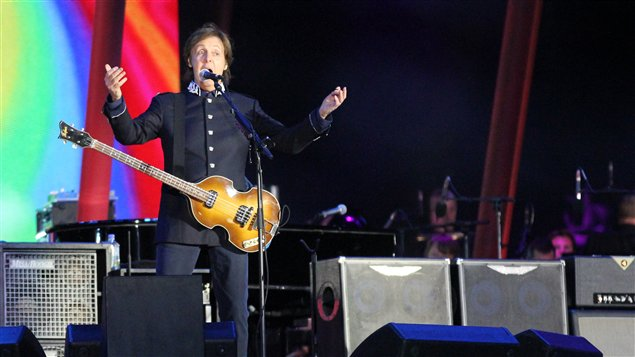 Paul McCartney lors du spectacle pour la reine