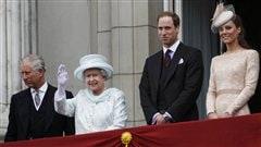 La reine et une partie de sa famille