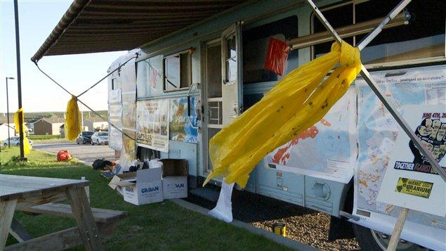 L'autobus du groupe Sept-Îles sans uranium