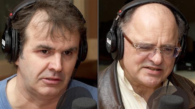 ©Radio-Canada/Christian Côté | <b>Les auteurs Patrick Senécal et Jean-Jacques Pelletier</b>