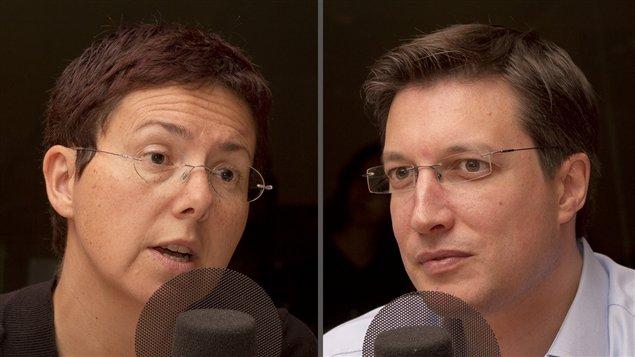 ©Radio-Canada/Olivier Lalande | <b>Les professeurs et chercheurs Elisabeth Vallet et Guillaume Lavoie</b>